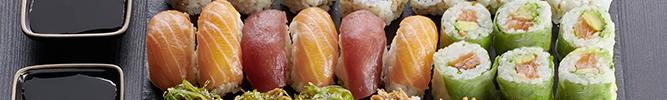 Les plateaux de sushis
