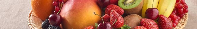 Fruits et corbeilles de fruits