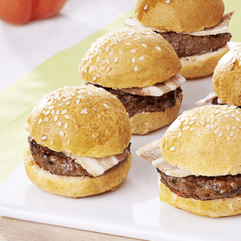 6 Minis bacon burgers