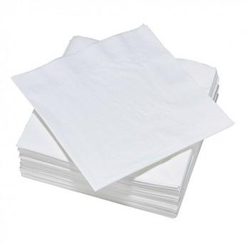 20 serviettes grises blanches - 40cm