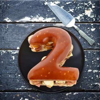 Pain surprise Chiffre '2' garni - 20 Toasts