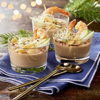 Tartinable saint jacques et crevettes (fromage blanc, jus de lime, aneth et ciboulette)