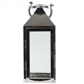 1 lanterne métal et verre