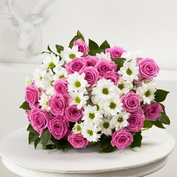 Bouquet Aube rose