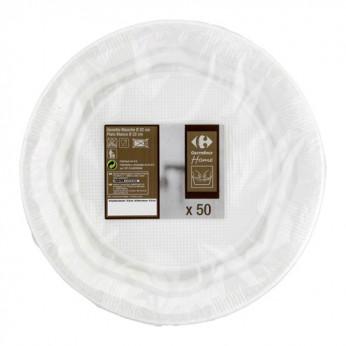 50 assiettes D 23 cm Carrefour Home