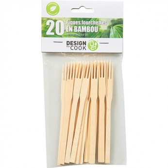 20 pics fourchette bambou
