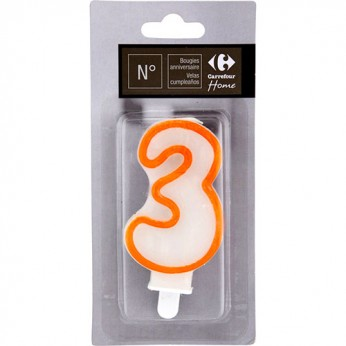 1 bougie chiffre 3 avec bobèche_carrefour_traiteur