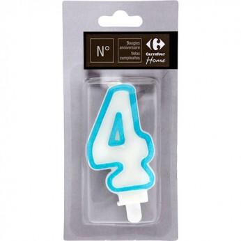 1 bougie chiffre 4 avec bobèche_carrefour_traiteur