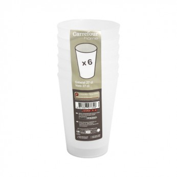 6 gobelets translucides - 27cl