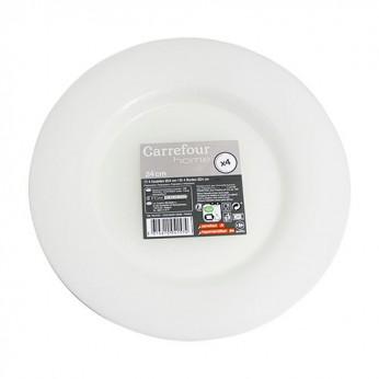 4 assiettes translucides - 24cm
