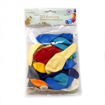 20 ballons multicolore