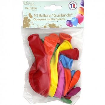 10 ballons multicolores