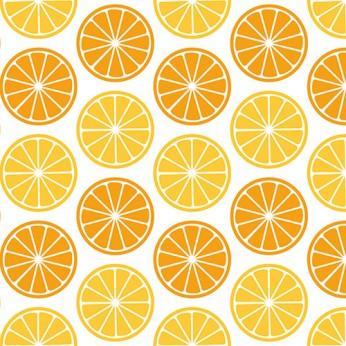 30 serviettes 3 plis agrumes orange - 33cm