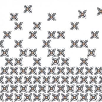 30 serviettes 3 plis azuelos - 33cm