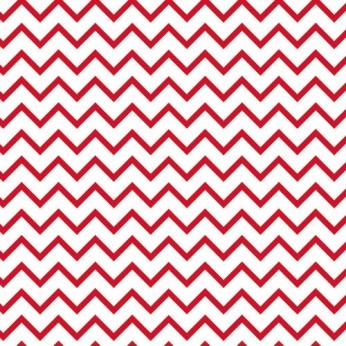 30 serviettes 3 plis chevron rouge - 33cm