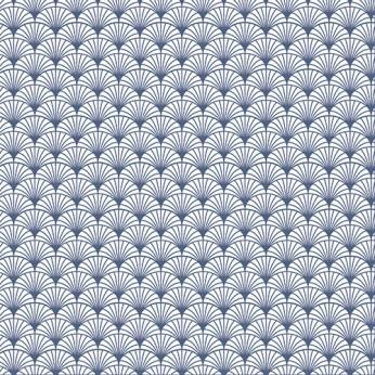 30 serviettes 3 plis éventail bleu - 33X33cm