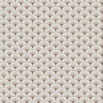 30 serviettes 3 plis éventail taupe - 33X33cm