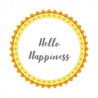 30 serviettes 3 plis hello happine - 33cm
