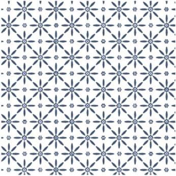 30 serviettes 3 plis kimono bleu - 33cm