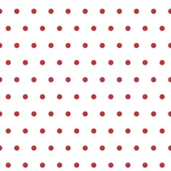 30 serviettes 3 plis mini pois rouge - 33cm