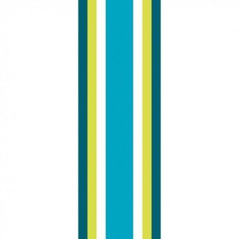 30 serviettes 3 plis trio baya turquoise - 33cm