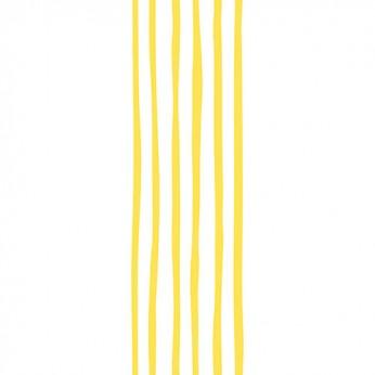30 serviettes 3 plis wavy jaune - 33cm