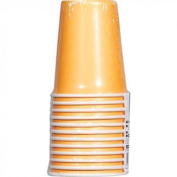 12 gobelets orange en carton - 20cl