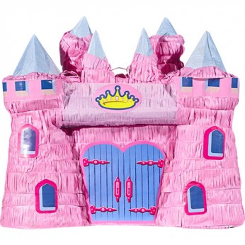 1 pinata château de princesse avec bâton