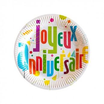 6 assiettes joyeux anniversaire - 23cm_carrefour_traiteur