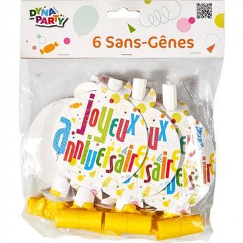 6 sans gênes joyeux anniversaire