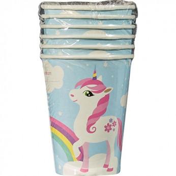 6 gobelets licorne - 25cl