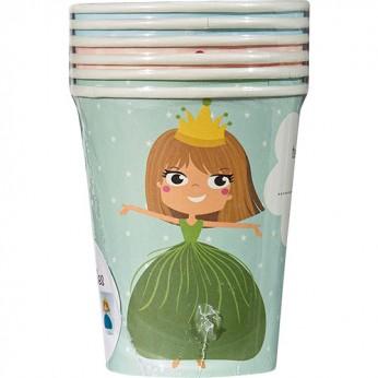 6 gobelets princesse licorne - 25cl