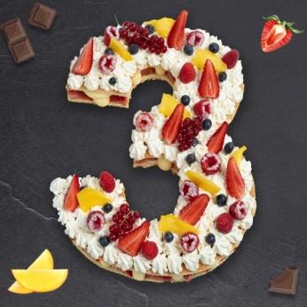 Number Cake - Passion - Numéro 3 - 8 parts
