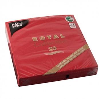 20 serviettes rouges - 33cm