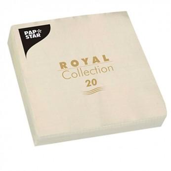 20 serviettes royales crèmes - 33cm