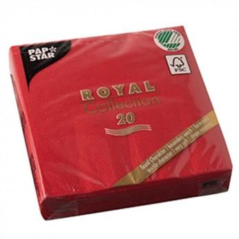 20 serviettes 3 plis royales - 25cm