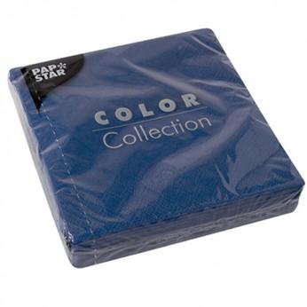 20 serviettes 3 plis bleu nuit - 24cm