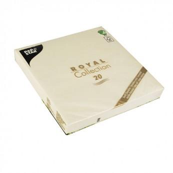 20 serviettes crèmes - 40cm