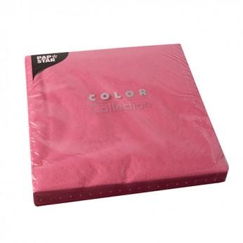 50 serviettes 2 plis fuchsia - 40cm