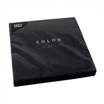 50 serviettes 2 plis noires - 40cm