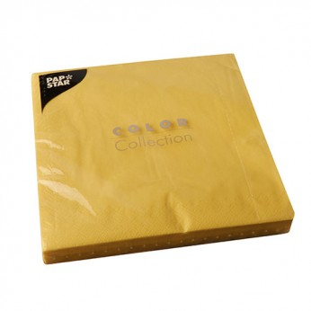 50 serviettes 2 plis jaunes - 40cm