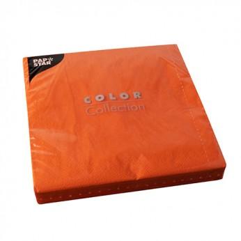 50 serviettes 2 plis orange - 40cm