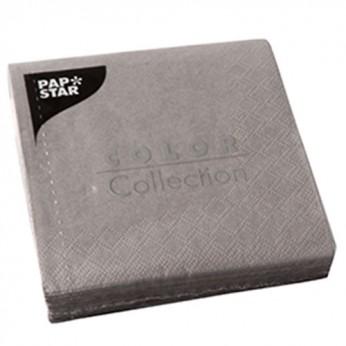 20 serviettes 3 plis grises - 24cm
