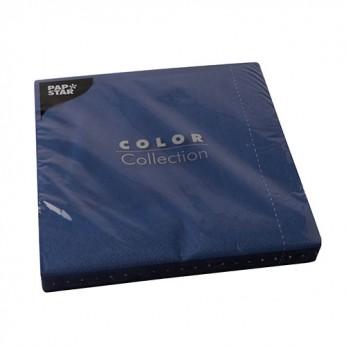 50 serviettes 2 plis bleu nuit - 40cm