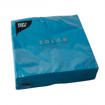 50 serviettes 2 plis turquoises - 40cm