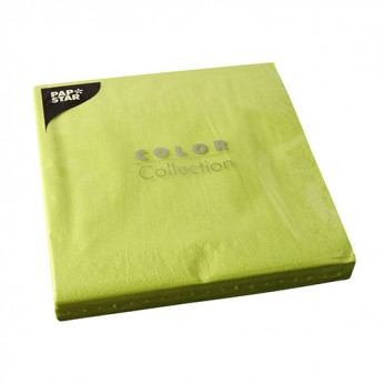 50 serviettes 2 plis anis - 40cm