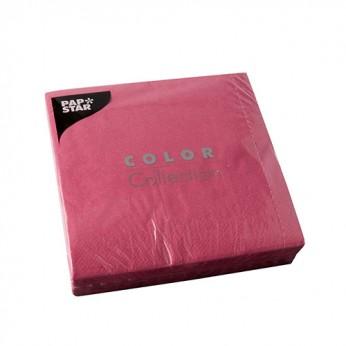 50 serviettes 3 plis fuchsia - 33cm