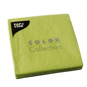 20 serviettes 3 plis vert anis - 24cm