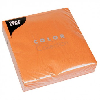50 serviettes 3 plis orange - 33cm_carrefour_traiteur