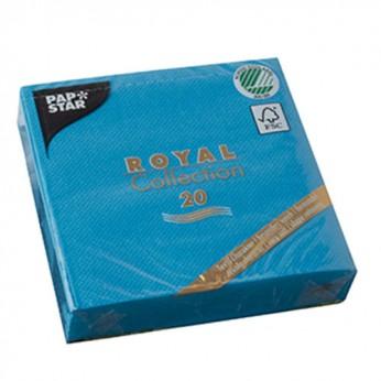 20 serviettes 3 plis turquoises - 25cm